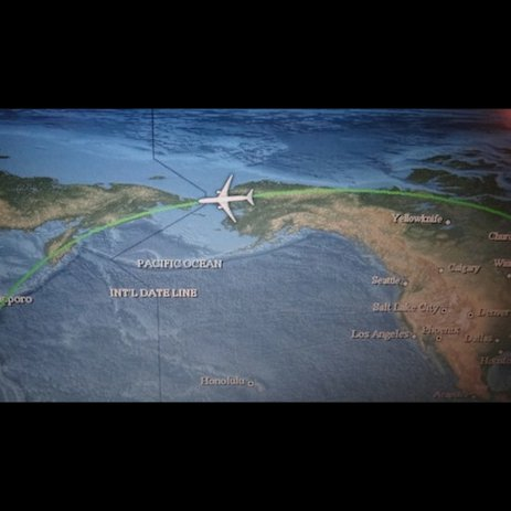 The route we took to Japan.