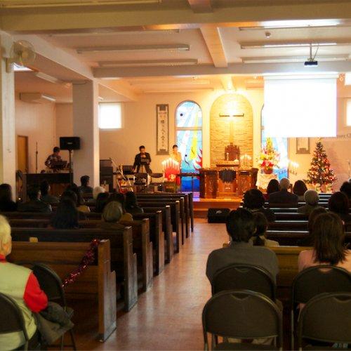 Christmas Sunday candlelight evening service.